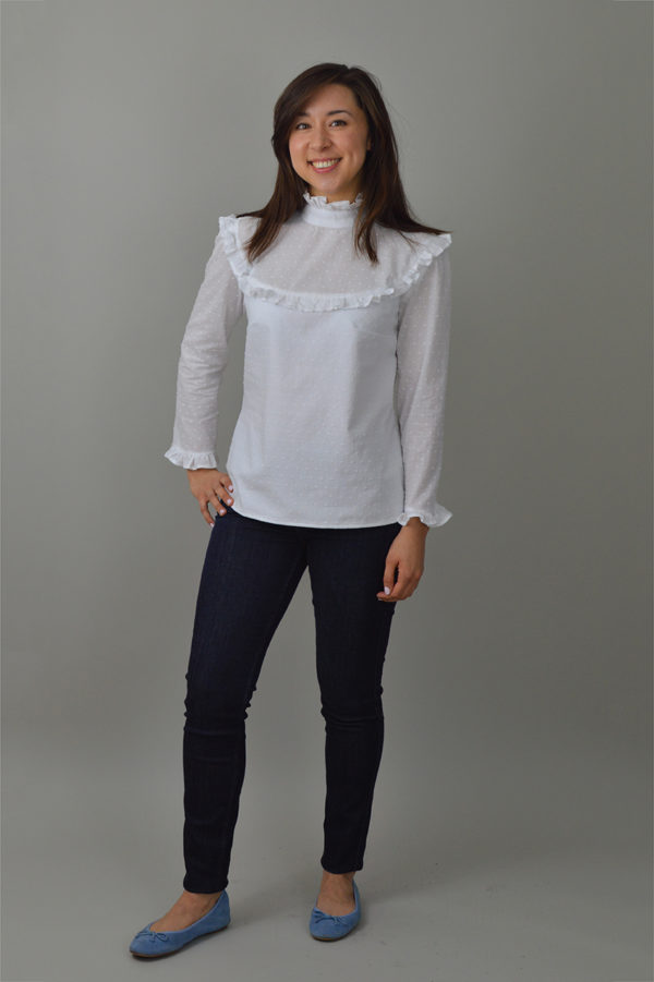 Nina Lee Bloomsbury Blouse white