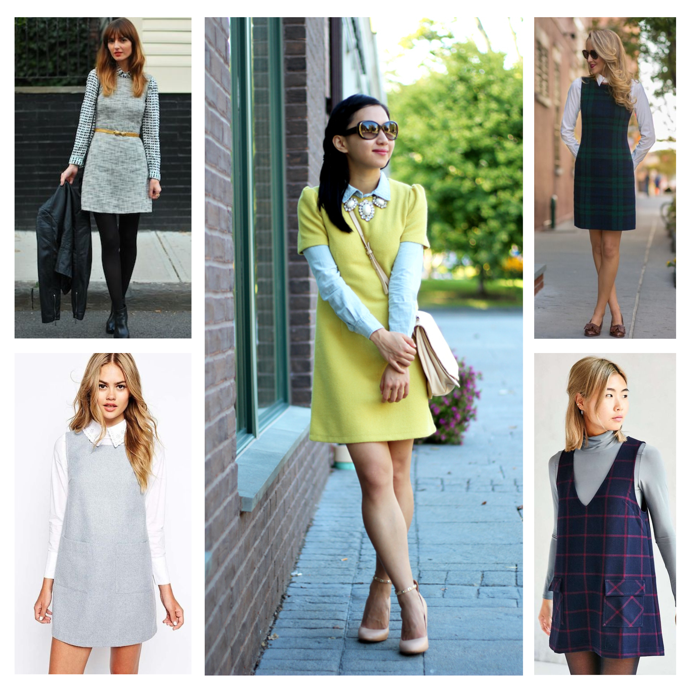 Layered shift dresses montage