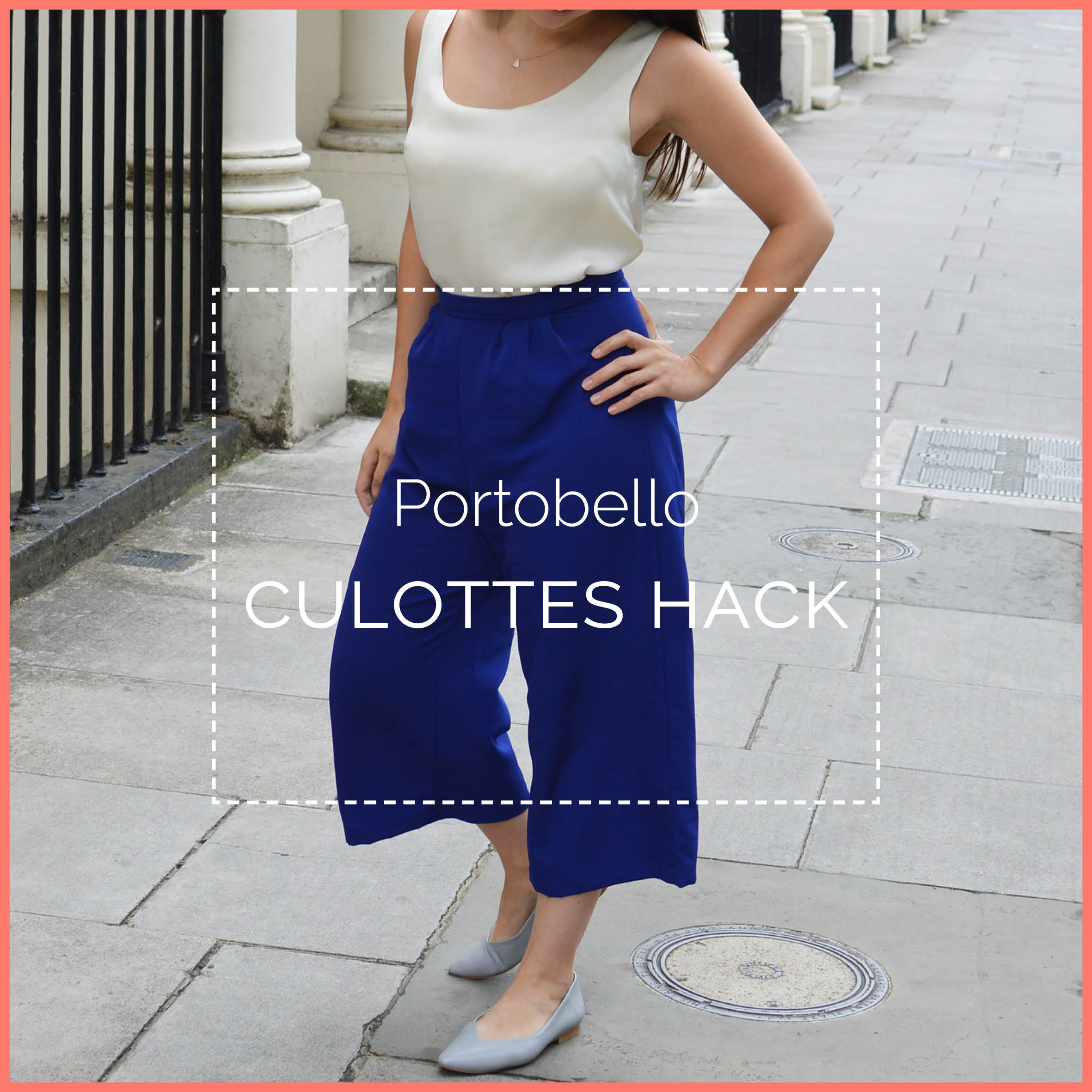 Portobello culottes hack blog header